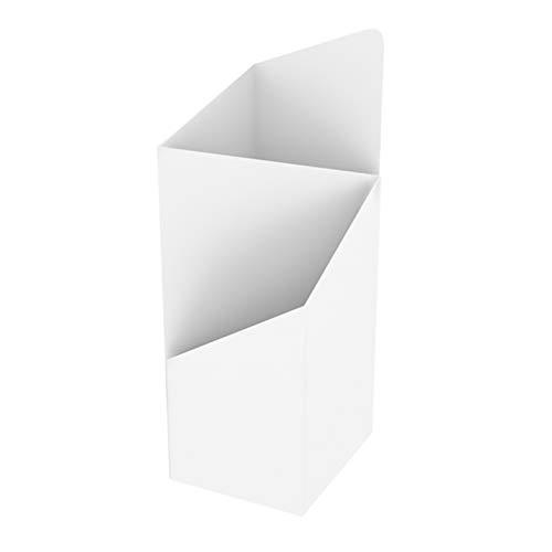 KELUNIS Haupteingang Schirmhalter Standgestell Mit Herausnehmbarer Tropfschale, Geometrisches Unregelmäßiges Spleißdesign Zwei Speicherports Regenschirmständer,Weiß