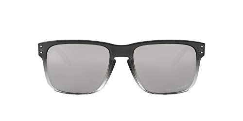 Oakley Men's OO9102 Holbrook Square Sunglasses, Dark Ink Fade/Chrome Iridium Polarized, 57 mm