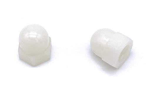 10 Stück Hutmutter M5 Kunststoff Polyamid Weiß Nylon Plastik DIN 1587 Sechskant (M5 [10 Stück])