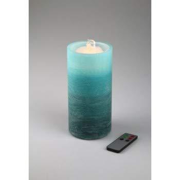Water Flame LED Kerze Echtwachs mit Springbrunnen Zimmerspringbrunnen Raumbefeuchter türkis