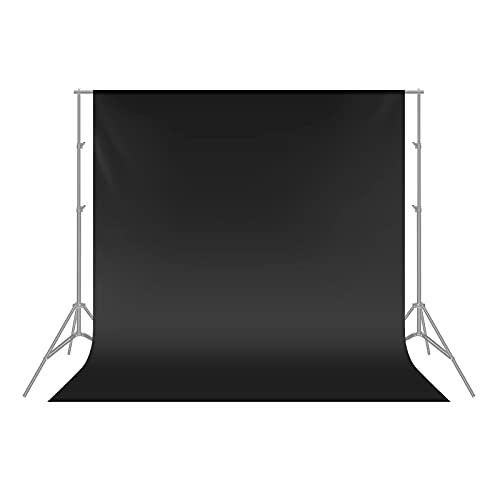 Neewer 1,8 x 2,8m Sfondo Nero Pieghevole 100% Puro Poliestere per Fotografia da Foto Studio, Video e Televisione (Sfondo SOLO)