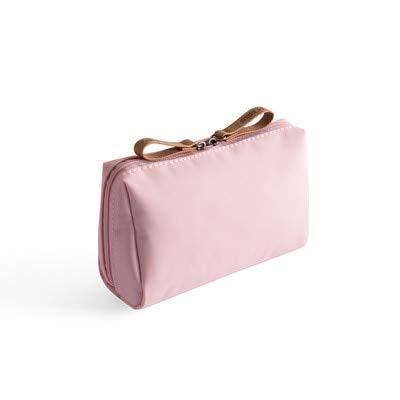 BLI 1pc Solid Cosmetic Bag Ladies Cosmetic Bag Pouch Cosmetic Bag Waterproof Storage Bag Necessities Pink