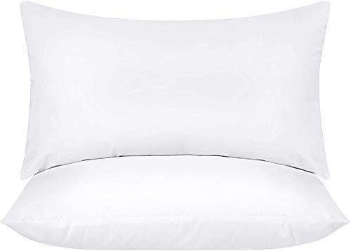 Utopia Bedding 2er Set Kissenfüllung 30 x 50 cm - Baumwollmischung Bezug - Waschbares Innenkissen Füllkissen Kopfkissen Sofakissen (Weiß)