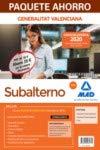 Paquete Ahorro Subalterno de la Generalitat Valenciana. Ahorra 39 € (incluye Temario Parte General; Temario Parte Especial; Test y acceso a Curso Oro)
