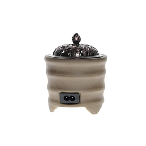 Quemador De Incienso Eléctrico Con Regulador Con Temporizador Ajustable Para Quemador De Aceite Enchufable Para Uso En Interiores,Brown