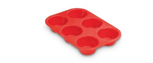 Guardini Juliette, Stampo 6 muffins 16,5x25cm, Silicone alimentare, Colore rosso