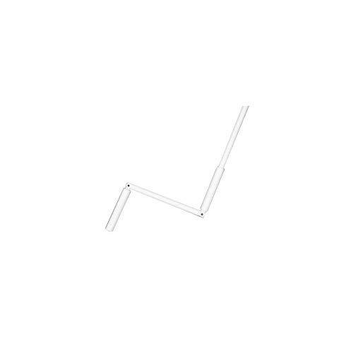 Manivelle Complete - en Acier laqué Blanc - Sortie Ronde : ø 12 mm - l 140 cm