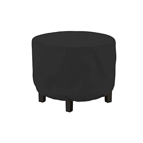 ZSML Juego de Fundas, sillas y mesas rectangulares Negras para Muebles, Anti-UV, Impermeable, a Prueba de Viento, de poliéster, Tela Oxford, Protectora, Adecuada para Todas Las Estaciones (tamaño