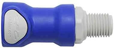 Battery Watering Technologies Threaded Female Connector Blue 1/4""