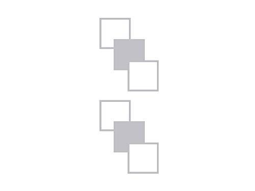 GRAZDesign Fenstertattoo Retro - Quadrate - Cubes, Selbstklebende Fensterfolie für Wohnzimmer Aufkleber für Glas-Tür / 105x40cm