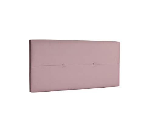 DHOME Cabecero de Polipiel o Tela AQUALINE Pro cabeceros Cabezal tapizado Cama Lujo (Polipiel Rosa, 95cm (Camas 70/80/90))