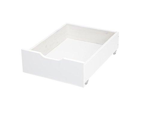 Schubkasten in Weiß auf Rollen für Sofa- und Etagenbetten