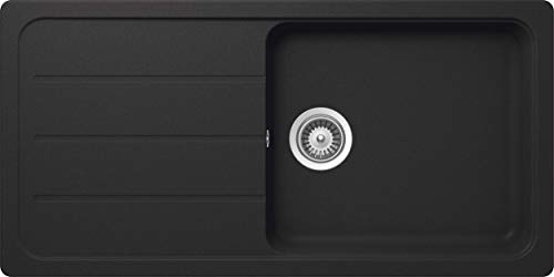 Schock Küchenspüle 100 x 50 cm Formhaus D-100L Onyx - CRISTALITE Granitspüle ab 60 cm Unterschrank-Breite, FOMD100LAGON