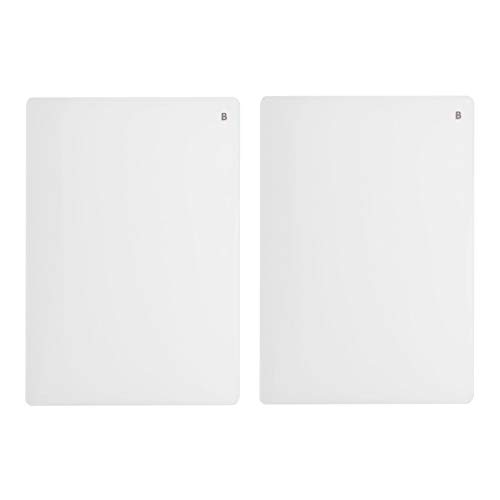 Vaessen Creative 2137-064 Cut ˈEm Easy Platte B, Set mit 2 Grundplatten, Ersatzplatten für die A5 Large Stanz-und Prägemaschine, transparent