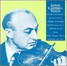 Louis Kaufman, Violin: Historic Recordings of 20th Century Works: Still, Bloch and Porter
