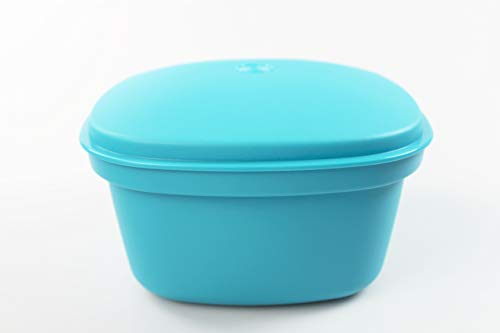 Tupperware Siebservierer Thermo-Duo 2,25 L türkis Warmhalten Warmie Tups 35580
