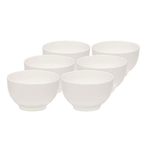 vivo by Villeroy und Boch Group - Basic White Schalen-Set, 6 tlg., 750 ml, Premium Porzellan, spülmaschinen-, mikrowellengeeignet, weiß