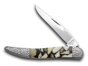 Schatt and Morgan Deer Stag and Black Pearl 1/50 Toothpick Pocket Knife Knives