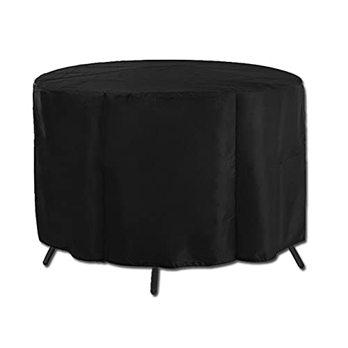 QINZC Muebles De Jardin Cubierta Protectora Redondas Impermeable Fundas para Ovalada Mesa Sillas De Patio Exterior 210d Oxford Resistente Al Viento Anti-UV Protectora De Polvo,130x71cm
