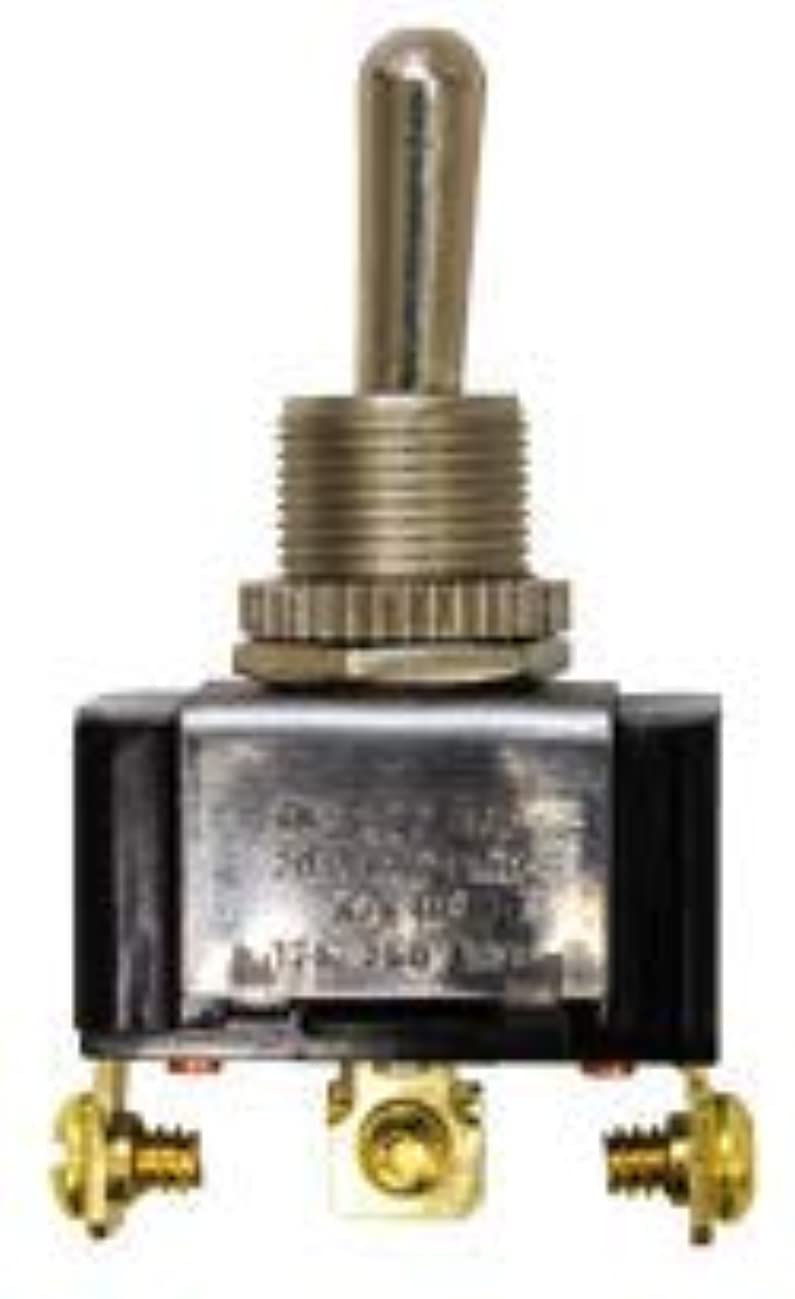 Tectran 19-1461 Toggle Switch, Single Pole, Double Throw, 3 Screw Terminals, 11/16