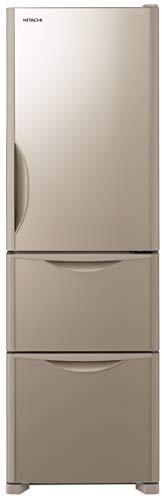 日立 冷蔵庫 315L 3ドア 右開き 幅54.0cm 奥行65.5cm まんなか野菜タイプ 真空チルド うるおい野菜室 クリスタルシャンパン R-S32JV XN