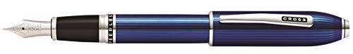 Cross Peerless 125 - Pluma estilográfica (grosor de escritura M, cristal de Swarovski en capucha),...