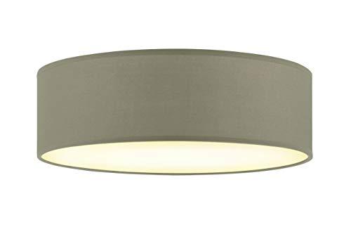 Briloner Leuchten Deckenleuchte, Stoffleuchte, Deckenlampe 1 x E27 max. 40 Watt, Stoffschirm Farbe: Taupe, Ø 30cm