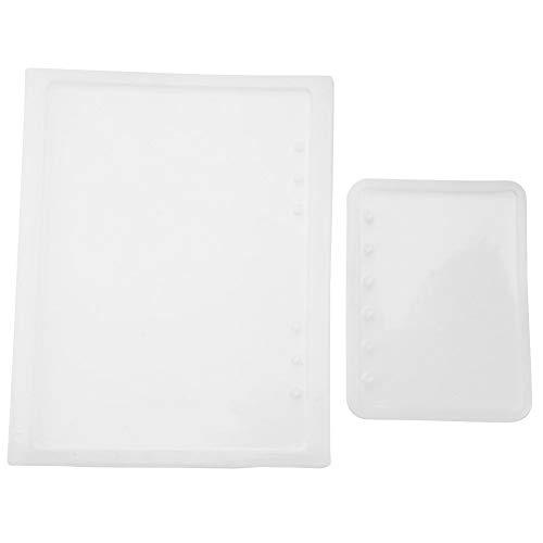 2 unids/set A5 A7 Notebook Forma Art Decortive Moldes De Silicona Resina Epoxi para DIY Bloc de notas de Cristal cubierta