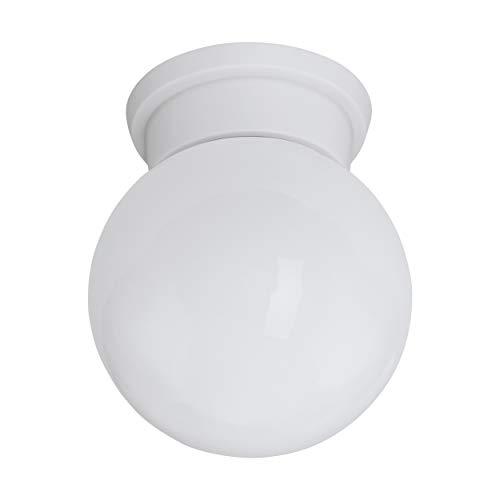 EGLO Deckenlampe Durelo, 1 flammige Deckenleuchte modern, Wohnzimmerlampe aus Kunststoff und Glas, Küchenlampe in Weiß, Flurlampe Decke mit E27 Fassung