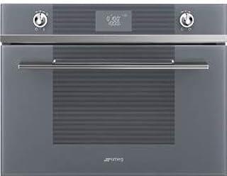 SMEG SF4102MS - Horno microondas (45 cm, 40 L), color plateado: Amazon.es: Hogar