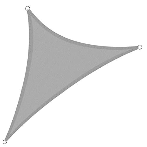 NaiCasy Sun Shade Sail Trigon Impermeable UV Bloque CANOP 3x3x3 Metro Oxford Paño Patio Patio Sombrero Sombrero para Outdoor Light Grey