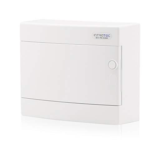 Zekeringkast opbouw IP40 verdeler behuizing 1-rij tot 12 modules witte deur voor droogkamer installatie in huis