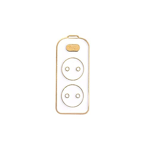 Arte lindo para los regalos del estudiante aleación joyería collar accesorios de control remoto alambre eléctrico broche Denim Chaquetas Pin solapa Esmalte Pin Badge(1)