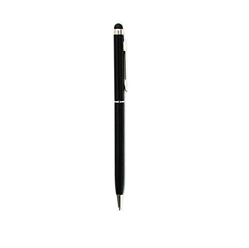 C63® Smartphone Touch Screen Stylus Pen met Biro. Professionele Stylus van aluminium. Zwart