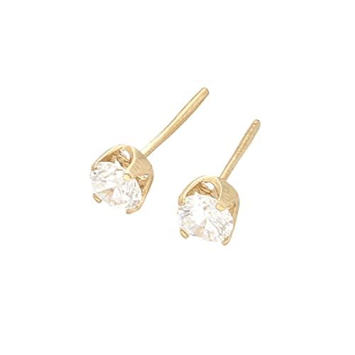 Pendientes de tuerca de oro amarillo de 9 quilates para mujer (cabeza de 5 mm) | El regalo perfecto para una dama especial | Jollys Jewellers