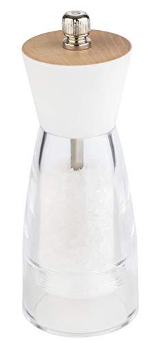 """APS Salzmühle """"Frida"""" – Premium Salzsmühle mit einem Mahlwerk aus Edelstahl und Holzdeckel – Der Mahlgrad ist stufenlos einstellbar 6 x 15,5cm"""