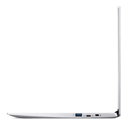 Acer Chromebook 514 (14 Zoll Full-HD IPS Touchscreen matt, Aluminium Unibody, 17mm flach, extrem lange Akkulaufzeit, schnelles WLAN, beleuchtete Tastatur, MicroSD Slot, Google Chrome OS) Silber
