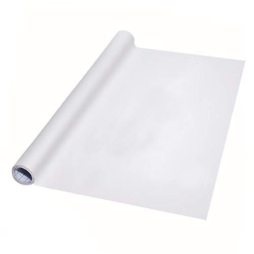Linian Pizarra Blanca Adhesiva, Pizarra Blanca de Pared Lámina Blanca Pizarrón Adhesiva Fácil Escribir y Borrar 44.5 * 200cm