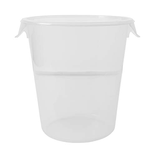 Rubbermaid Commercial Products Plastic Round Food Storage Container for Kitchen/Food Prep/Storing, 8 Quart, Clear, Container Only (FG572424CLR)