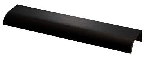 Gedotec Schrankgriff Möbelgriff Küche Griffleiste schwarz matt Design-Griff Aluminium - H10304   Küchengriff eckig für Schubladen   Alu Profilgriff Länge 200 mm   1 Stück - Schubladengriff BA 128 mm