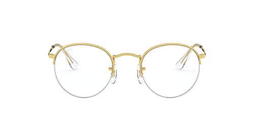 Ray-Ban Round-gaze-0rx3947v3086 Gafas, LEGEND GOLD, 51 Unisex