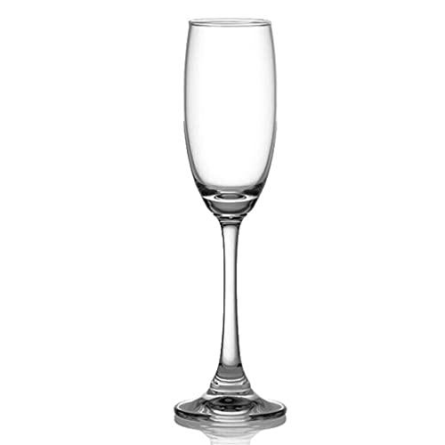 MQH Copas de Vino Copa de Vino, Vidrio cristalino de 220 ml, Copa Grande de Vino de Tallo Largo para la Boda del Vino Rojo y Blanco, Aniversario, Navidad Copas para Vino (Color : Single)