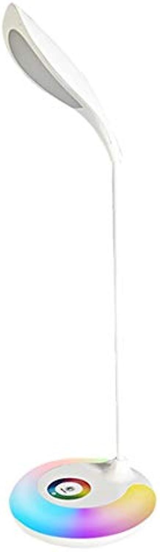 Tischlampe USB Lade Eye-caring Tischlampe Wiederaufladbare Touch Control LED Schreibtischlampe Mit 3 Helligkeitsverstellbaren Schwanenhals Buntes Nachtlicht Für Büro Und Schlafzimmer für Schlafzimmer,