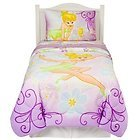 Purple and White Tinkerbell Bedding