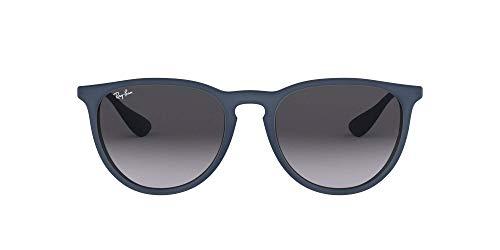 Ray-Ban Gafas de sol, Erika, Azul/Gunmetal (Blue/Gunmetal), con lente Gris Degradada (Grey Gradient)