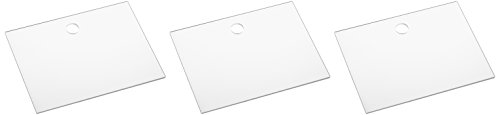 La cordeline CJN20E Lot de 3 Etiquettes Sachet Acrylique Transparent S 9,5 x 7 cm