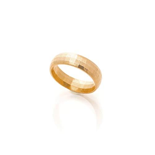 Honey Minx Women's Honey Hammered Band Ring Gold 7