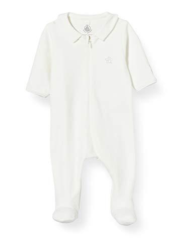 Petit Bateau Bodyjama Y_5218801 Pyjama, Blanc (Marshmallow 01), 58 (Taille fabricant: 1M/54centimeters) Mixte bébé