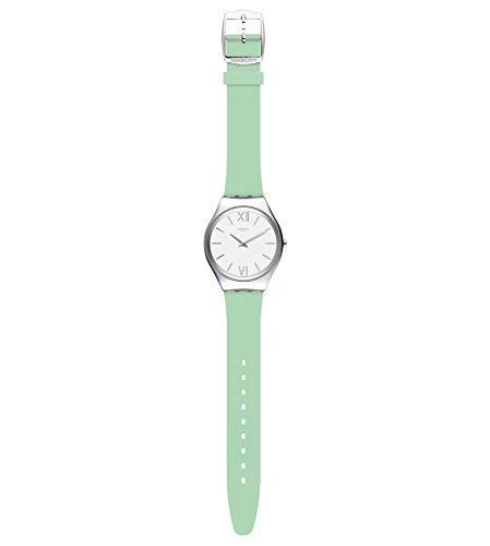 Swatch Reloj Analógico para Mujer de Cuarzo con Correa en Silicona SYXS125