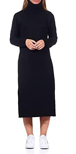 Only ONLBRANDIE L/S Roll Neck Dress KNT Noos Vestido, Negro, M para Mujer